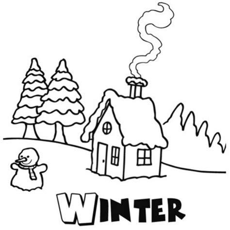 imagenes de invierno y verano para colorear dibujo de la estaci 243 n de invierno para pintar dibujos