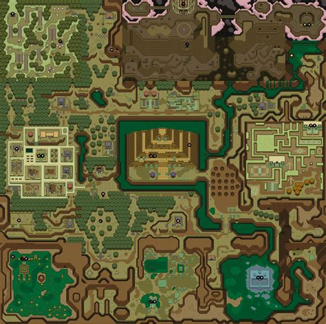 legend of zelda nes map poster mike s rpg center zelda a link to the past maps