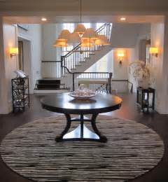 Foyer Round Table Splendid Round Foyer Pedestal Table Decorating Ideas