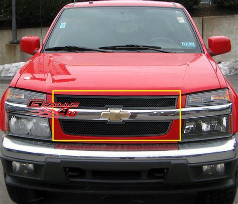6703 Front Grille Isuzu Nkr 71 for 04 10 chevy colorado black stainless mesh premium grille insert ebay