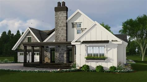 modern farmhouse house plan 098 00301