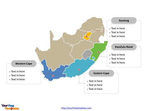 free south africa editable map free powerpoint templates