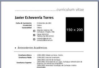 Plantilla De Curriculum Vitae Word 2003 plantillas cv word 2003