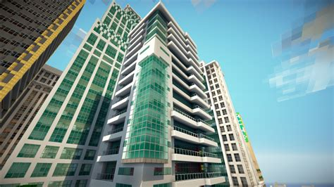 Minecraft Apartment Layout Greenfield Project Modern Seaside Apartments Minecraft
