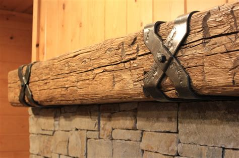 Criss Cross Mantel Straps   Rustic   Fireplace Mantels