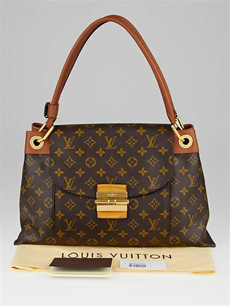 louis vuitton camel monogram canvas olympe bag yoogis