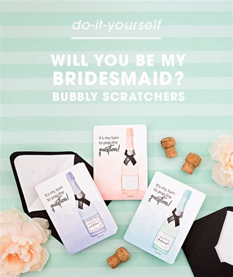 Diy Will You Be My Bridesmaid Cards Template by You To See These Diy Bridesmaid Scratch Cards
