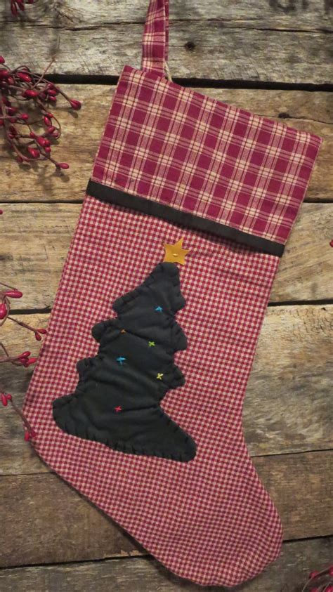Free Pattern For Primitive Christmas Stocking | country primitive christmas stocking by sewthisischristmas
