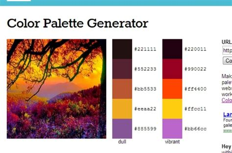 Color Palettes Generator | color palette generator crafty pinterest