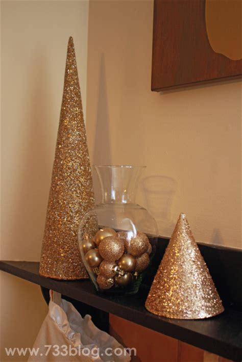 How To Make Paper Cone Trees - diy glitter paper cone tree inspiration made simple
