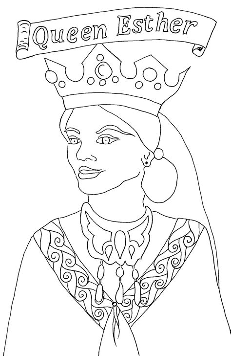 coloring pages esther queen bible purim arts crafts for your kids