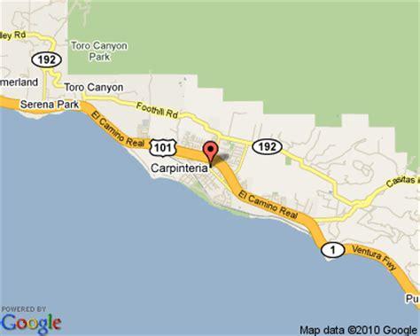 carpinteria california map carpinteria california