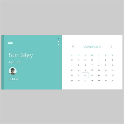 calendar layout html free material html5 css3 calendar template free download