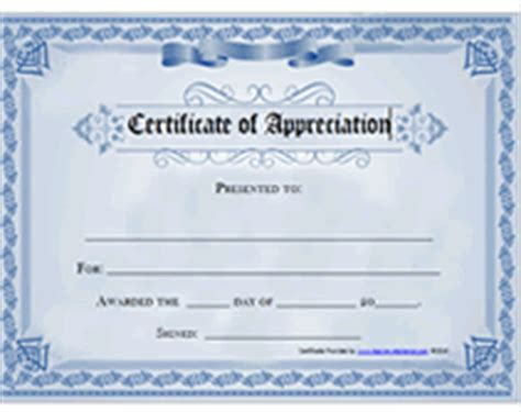recognition certificate templates free printable free printable certificates of appreciation awards templates