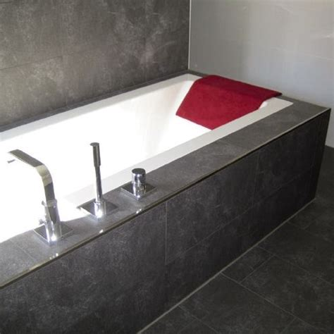 bathtub edge trim schluter metal tile edging bathroom remodel pinterest