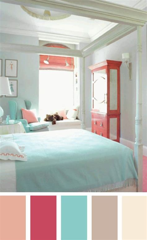 Bedroom Color Combinations Pink This Is A Wonderful Palette Of Aqua And Coral The Trick