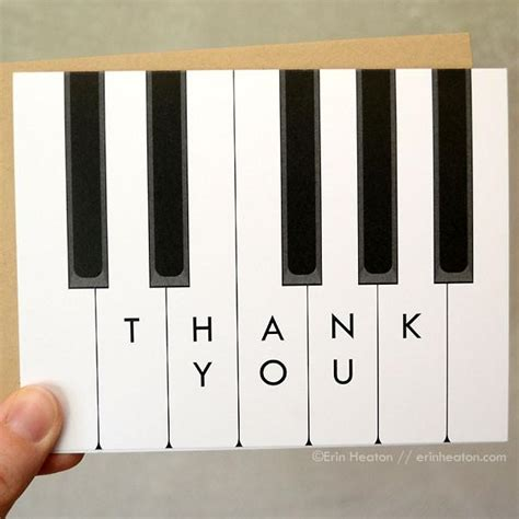 thank you letter to piano piano thank you note unique piano cards and