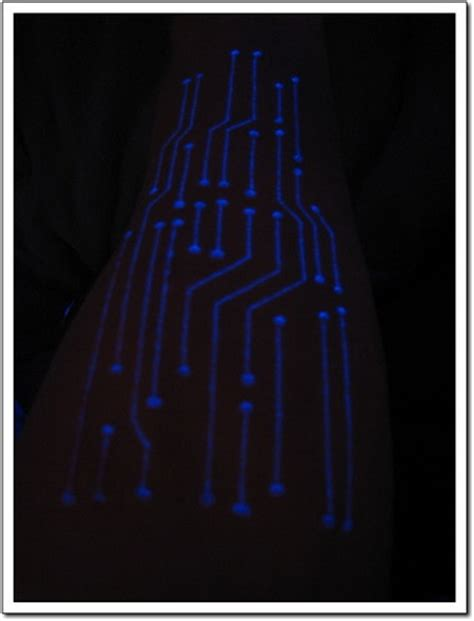 black light tattoo shops pin blacklight glow tattoo looks good in daylight or under