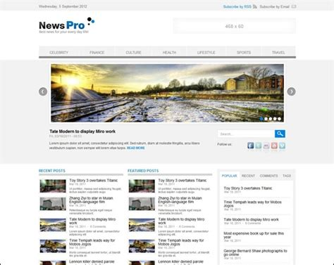 theme newspaper drupal 60 excellent drupal free and premium themes