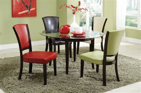 Dining Table With Green Chairs Green Leather Dining Chair A Sofa Furniture Outlet