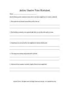 active and passive voice worksheets quiz and key lesson