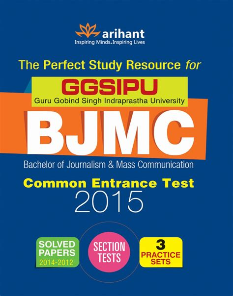 Arihant Books For Mba Entrance by The Study Resource For Ggsipu Bjmc Common