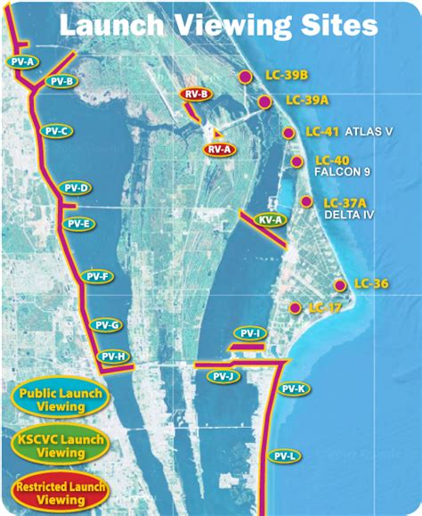 launch maps report from the florida zone the space coast