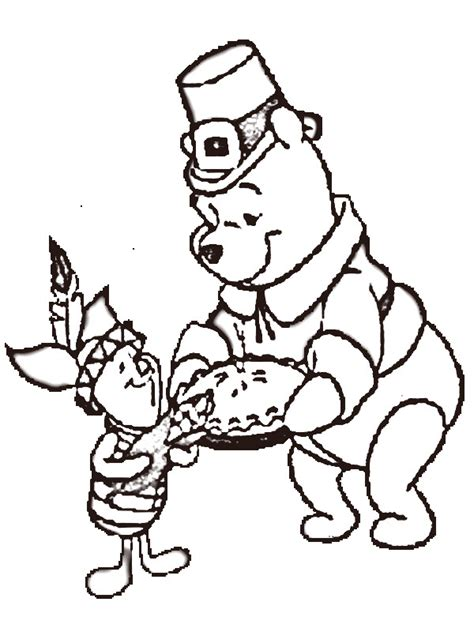 Winnie The Pooh Thanksgiving Coloring Pages turkey clip cliparts co