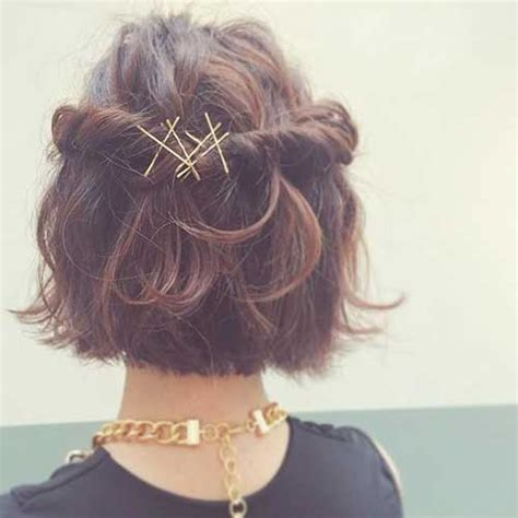 back to school hairstyles without bobby pins adorable short hairstyles with bobby pins short