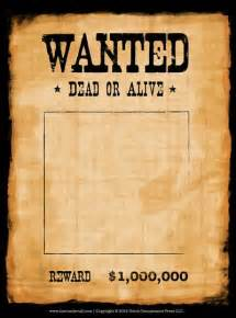 1920s wanted poster template wanted poster template crafts for