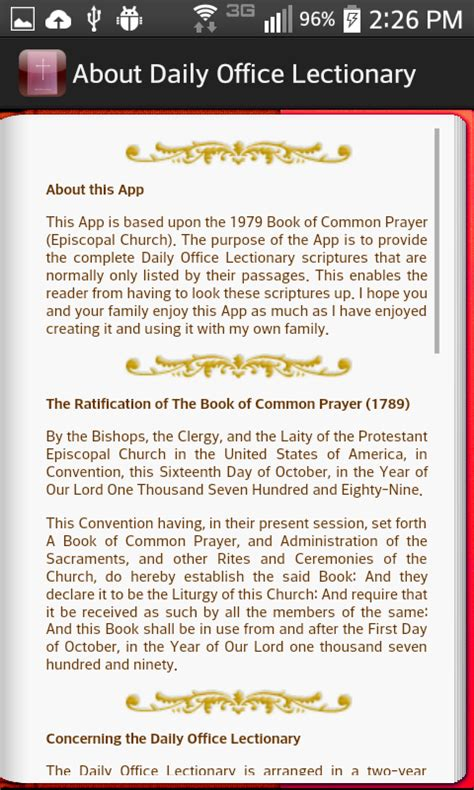 Daily Office Lectionary by Daily Office Lectionary Android Apps On Play