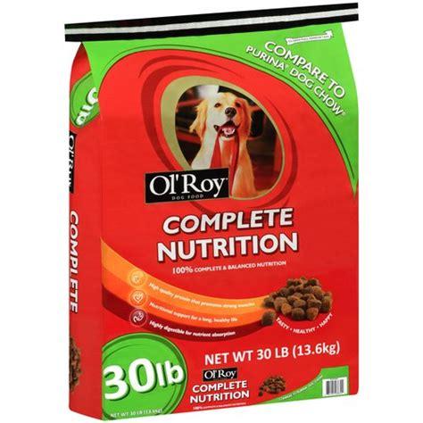 ol roy food ol roy complete nutrition food 30 lbs walmart