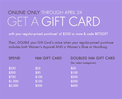 Neiman Gift Card Event - neiman marcus double gift card event doubled value 25