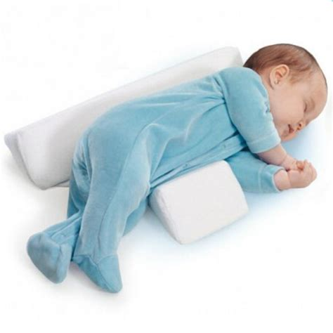 Baby Side Sleeper Pillow by Hibaby Newborn Baby Sleep Positioner Infant Anti Roll Cushion Two Wedge Pillow Ebay