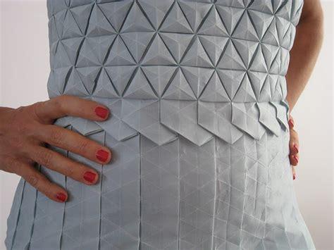 Origami Garments - formakers origami tessellation dress romina goransky