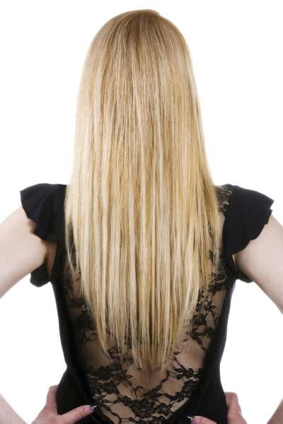 Haircut Shape | long hairstyles u shaped v shaped or straight across back