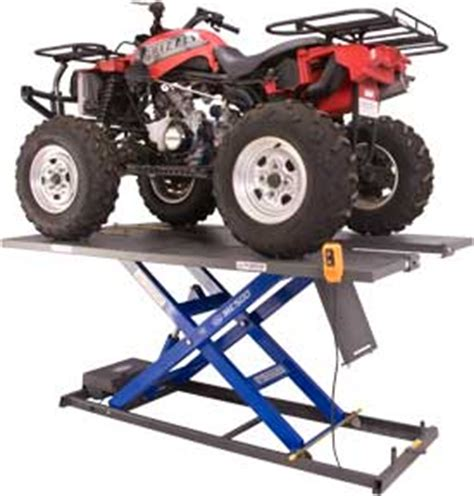 atv air lift table motorcycle lift tables manual electric or air atv utv