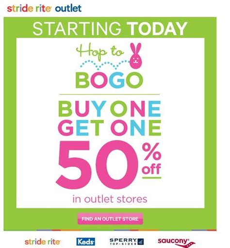 sperry outlet printable coupons shoe deals bogo sale starts today at stride rite outlet