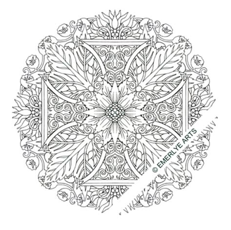 cross mandala coloring pages cynthia emerlye vermont artist and life coach two