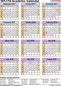 Brunei Calendã 2018 Academic Calendars 2017 2018 As Free Printable Excel Templates