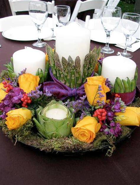 veggie centerpiece arrangements weddings by lilly