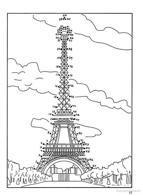 Eiffle tower dot to dot for Madeline five in a row. The
