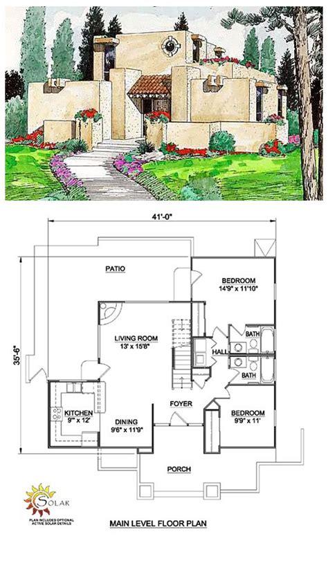 santa fe southwest house plan 54606 santa fe southwest house plan 94304 patios living rooms