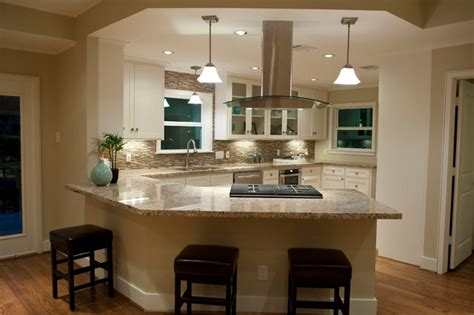 Kitchen Islands In Small Kitchens Firestone Traditional Kitchen Houston By Curtis
