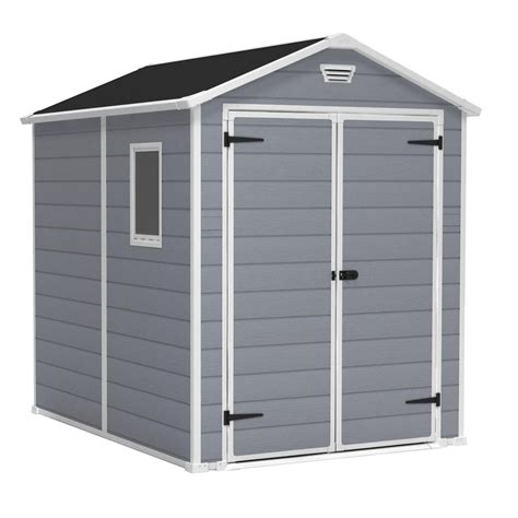 keter sheds keter manor 6 ft x 8 ft outdoor storage shed 213413 the home depot