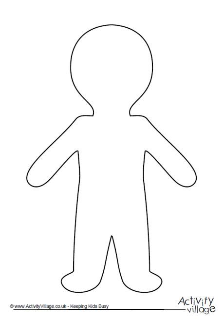 cut out person template blank person template cliparts co