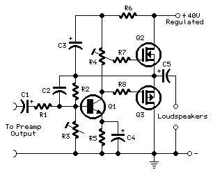 mosfet transistor audio lifier car mini mosfet audio lifier circuit circuit diagram world