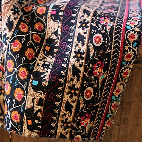 Stripe Cotton Linen Fabric Bohemian Fabric Upholstery Fabric