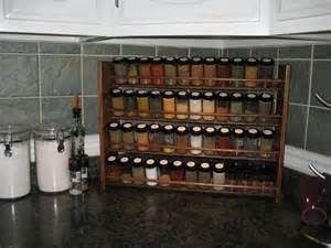 Spice Rack For Large Containers Decorative Spice Rack With Jars Handmade 48 Jar Capacity