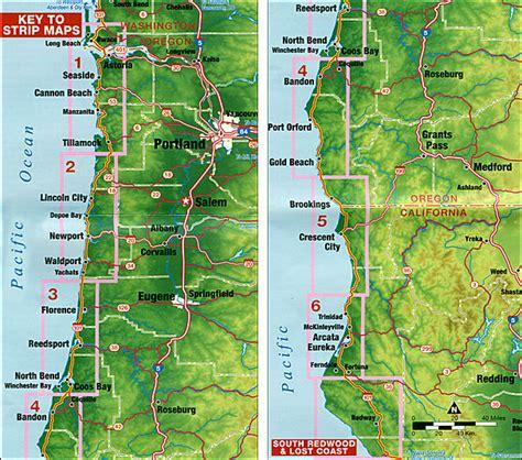 map of oregon and northern california oregon and northern california coast stanfords